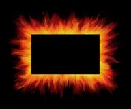 Frame da flama ilustração do vetor