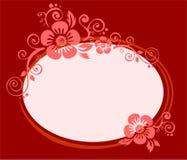 Frame da flor do Claret ilustração do vetor