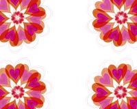 Frame da flor dos corações da flor ilustração do vetor