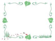 Frame da formiga e das folhas ilustração do vetor