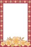 Frame da foto com flores ilustração do vetor