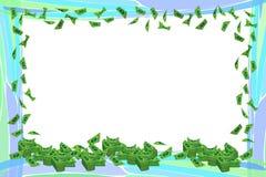 Frame da foto Dinheiro Dólares de papel horizontal Imagens de Stock