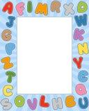 Frame da foto do alfabeto dos desenhos animados Foto de Stock Royalty Free