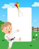 Frame da foto do menino do karaté Imagens de Stock