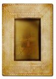 Frame da foto do vintage de encontro ao branco Foto de Stock
