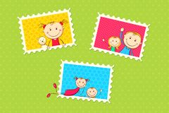Frame da foto dos miúdos Fotografia de Stock Royalty Free