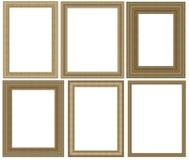 Frame da foto isolado no fundo branco Fotos de Stock