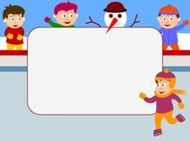 Frame da foto - patinagem de gelo Fotografia de Stock Royalty Free