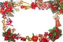 Frame da grinalda do Natal imagem de stock royalty free