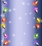 Frame da luz de Natal Fotos de Stock Royalty Free