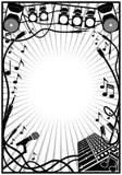 Frame da música Imagem de Stock Royalty Free