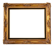 Frame da madeira do ouro Fotografia de Stock Royalty Free
