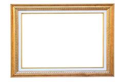 Frame da madeira do ouro do vintage Imagens de Stock Royalty Free