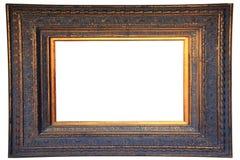 Frame da madeira do ouro do vintage Foto de Stock Royalty Free