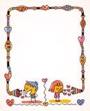 Frame da mensagem do amor Foto de Stock Royalty Free
