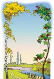 Frame da paisagem ilustração royalty free