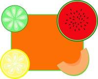 Frame da vitamina ilustração do vetor