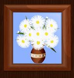Frame and daisies Stock Photography