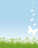 Frame das borboletas e das flores Imagem de Stock Royalty Free