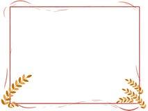 Frame das folhas Ilustração Royalty Free