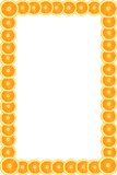 Frame das laranjas Imagens de Stock