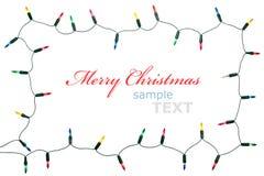 Frame das luzes de Natal Foto de Stock Royalty Free