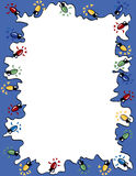 Frame das luzes de Natal ilustração royalty free