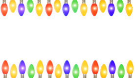 Frame das luzes de Natal Imagens de Stock Royalty Free