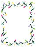 Frame das luzes de Natal, vertical Imagens de Stock Royalty Free