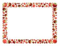 Frame das maçãs Fotografia de Stock Royalty Free