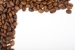 Frame dat uit coffeebeans wordt gemaakt Stock Foto
