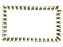 Frame dat uit dollars wordt gemaakt Royalty-vrije Stock Fotografie