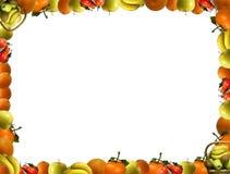Frame dat uit fruit bestaat Royalty-vrije Stock Foto's