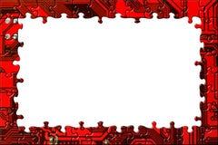 Frame dat van computerraadsel wordt gemaakt Royalty-vrije Stock Fotografie