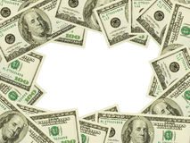 Frame dat van geld wordt gemaakt Royalty-vrije Stock Afbeelding