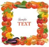 Frame dat van groenten wordt gemaakt. Stock Foto