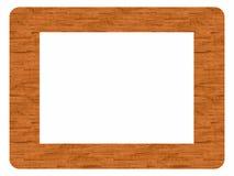 Frame dat van hout wordt gemaakt - neem uw beeld op Stock Foto's