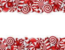 Frame dat van rood en wit suikergoed wordt gemaakt Royalty-vrije Stock Afbeeldingen