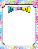 Frame for Day of the Dead. Multicolored skeletons. Color skull. Royalty Free Stock Photography