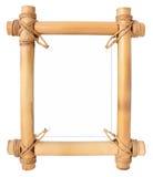 Frame de bambu com área branca para seu texto imagens de stock royalty free