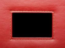 Frame de couro vermelho Fotografia de Stock