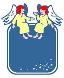 Frame de dois anjos ilustração stock