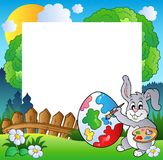 Frame de Easter com artista do coelho Foto de Stock Royalty Free