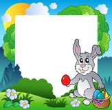 Frame de Easter com coelho e ovos Fotos de Stock Royalty Free