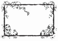 Frame de Grunge ilustração do vetor