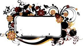 Frame de Grunge com Arabesques Imagens de Stock Royalty Free