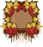 Frame de Grunge com as uvas Ilustração Royalty Free