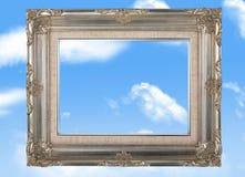 Frame in de hemel stock foto