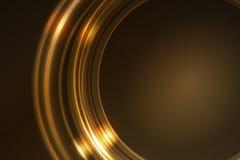 Frame de incandescência dourado de segmentos redondos do anel Fotos de Stock Royalty Free