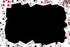 Frame de jogo feito dos cartões do póquer foto de stock royalty free
